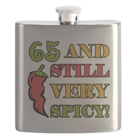 Spicy At 65 Years Old Flask