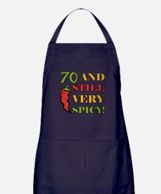 Spicy At 70 Years Old Apron (dark)