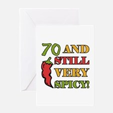 Spicy At 70 Years Old Greeting Card