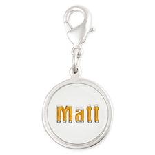 Matt Beer Silver Round Charm