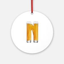 N Beer Round Ornament