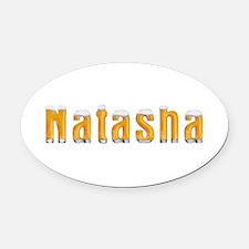 Natasha Beer Oval Car Magnet