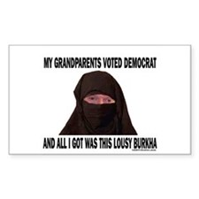 You voted Democrat Rectangle Decal