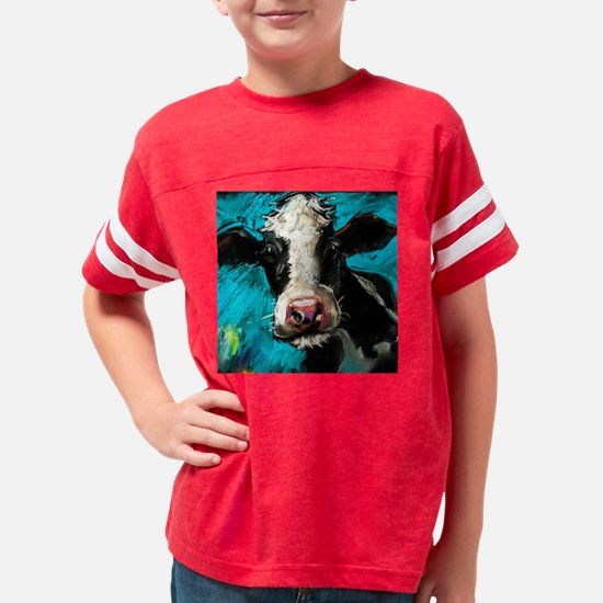 Cow Painting Youth Football Shirt