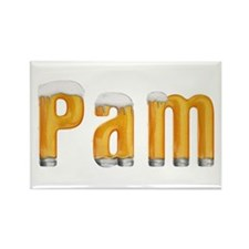 Pam Beer Rectangle Magnet