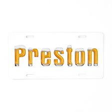 Preston Beer Aluminum License Plate
