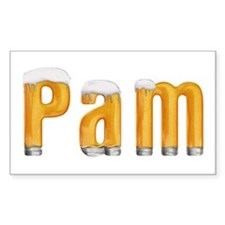 Pam Beer Rectangle Decal