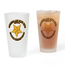Navy - Officer of the Line Drinking Glass