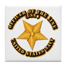 Navy - Officer of the Line Tile Coaster