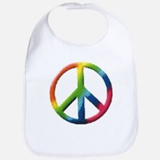 Rainbow Peace Sign Bib
