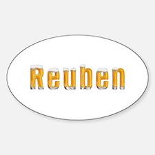 Reuben Beer Oval Decal