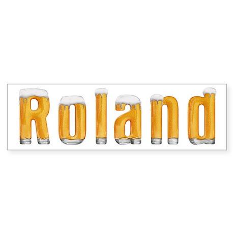 Roland Beer Bumper Sticker
