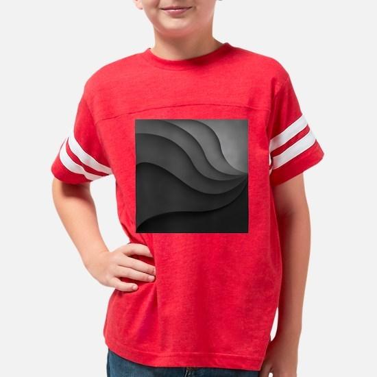 Black Abstract Youth Football Shirt