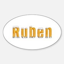 Ruben Beer Oval Decal