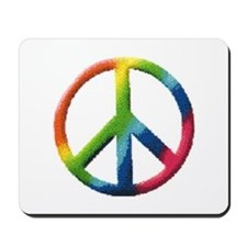 Rainbow Peace Sign Mousepad