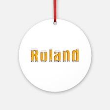 Roland Beer Round Ornament