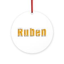 Ruben Beer Round Ornament