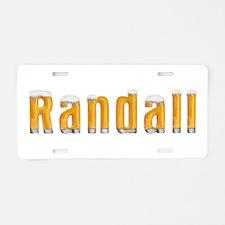 Randall Beer Aluminum License Plate