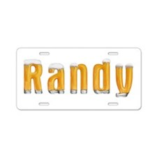 Randy Beer Aluminum License Plate