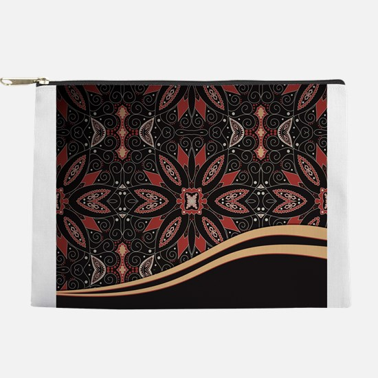 Abstract Floral Makeup Pouch