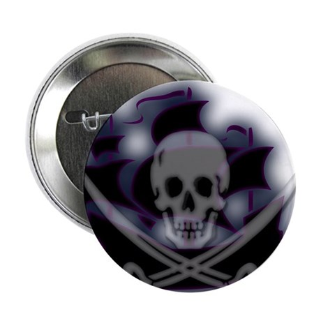"Pirate Ghost Ship 2.25"" Button (10 pack)"