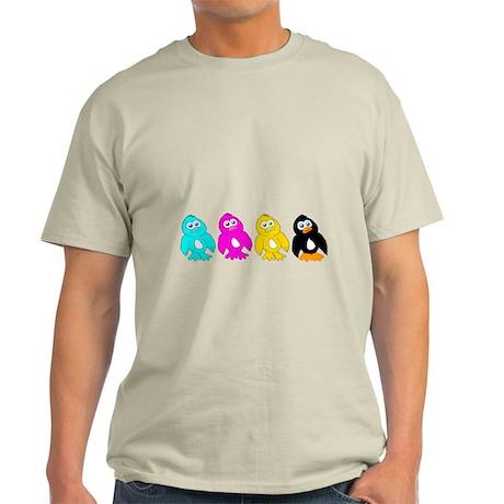 CMYK Penguins Light T-Shirt