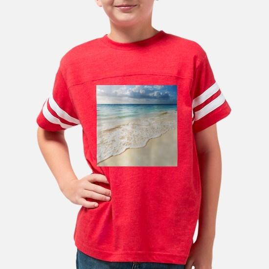 Beautiful Beach Youth Football Shirt
