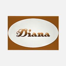 Diana: Orange Oval Rectangle Magnet