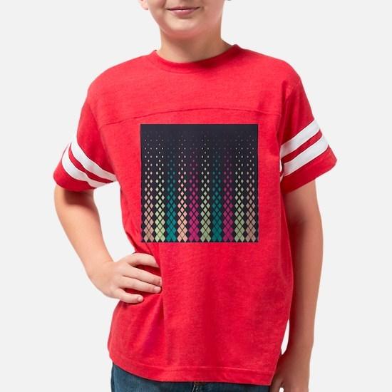 Geometric Pattern Youth Football Shirt