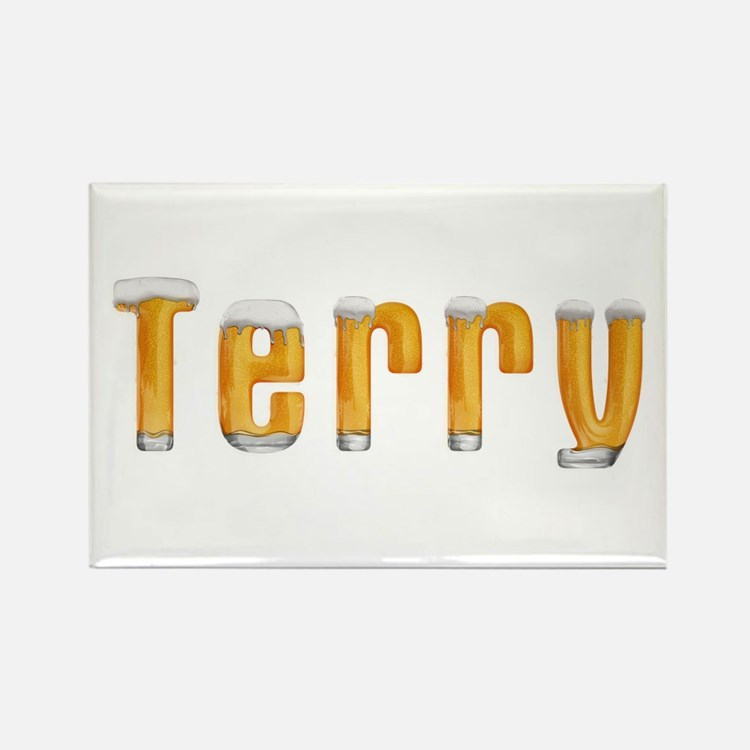 Terry Beer Rectangle Magnet