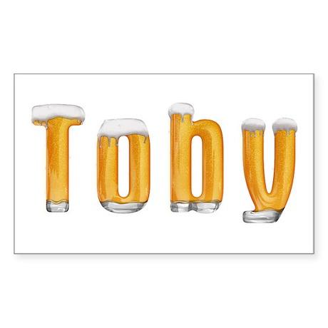 Toby Beer Rectangle Sticker