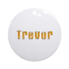 Trevor Beer Round Ornament
