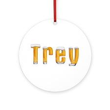 Trey Beer Round Ornament