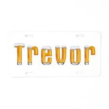 Trevor Beer Aluminum License Plate