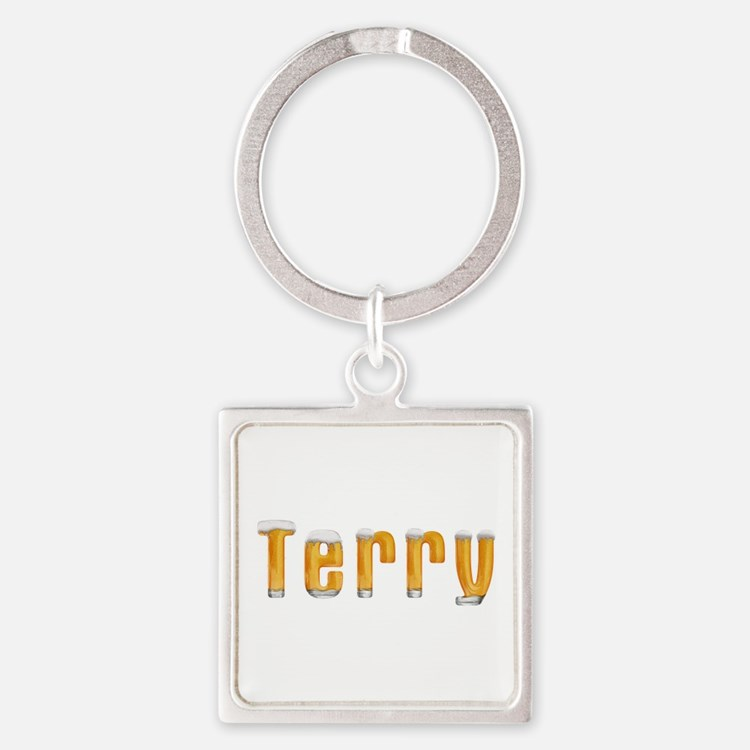 Terry Beer Square Keychain