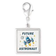 Future Astronaut (Boy) - Silver Square Charm