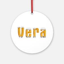Vera Beer Round Ornament