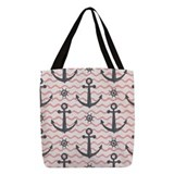 Sailing Polyester Tote Bag