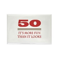 50 Is Fun Rectangle Magnet