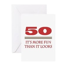 50 Is Fun Greeting Cards (Pk of 20)