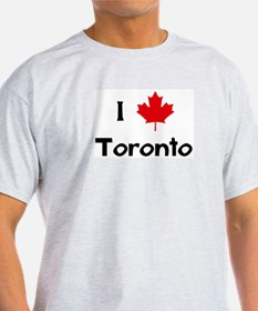 I Love Toronto Ash Grey T-Shirt