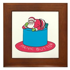 Panicked Santa Clause Framed Tile