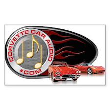Corvette Car Audio Rectangle Decal