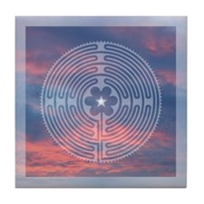 Sunrise Labyrinth Tile Coaster