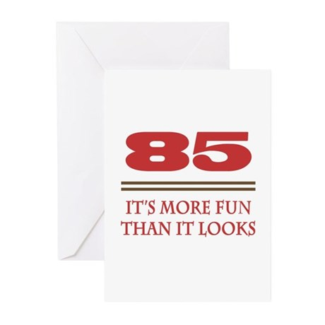 85 Is Fun Greeting Cards (Pk of 20)