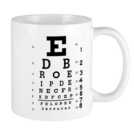 Drink Beer Eye Chart Mug