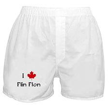 I Love Flin Flon Boxer Shorts