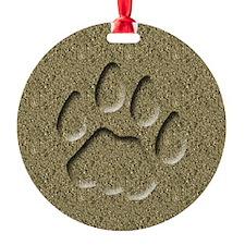 Cougar Mountain Lion Puma Tracks Ornament