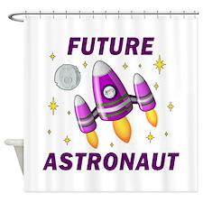 Future Astronaut (Girl) - Shower Curtain