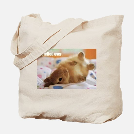 Cute bunny fell over Tote Bag